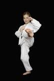 Młoda dziewczyna karate Zdjęcia Stock