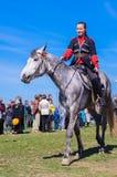 Młoda dziewczyna na horseback Obrazy Royalty Free