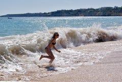 Młoda dziewczyna na wakacje Zdjęcie Royalty Free