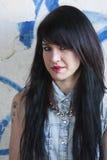 Młoda dziewczyna ruch punków Zdjęcie Royalty Free