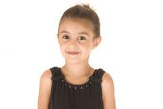 Młoda dziewczyna w czarnym leotard Obrazy Stock