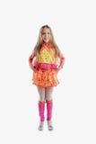 Młoda dziewczyna w kolorowym jako winx Zdjęcie Royalty Free