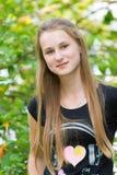 Młoda dziewczyna w naturze Zdjęcie Stock