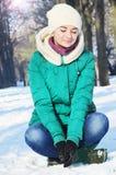 Młoda dziewczyna w zima Fotografia Stock