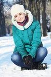 Młoda dziewczyna w zima Obrazy Stock