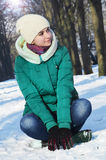 Młoda dziewczyna w zima Zdjęcie Royalty Free