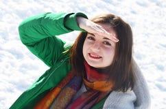 Młoda dziewczyna w zima Zdjęcia Stock