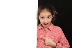 Młoda dziewczyna z whiteboard Obraz Royalty Free