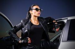 Młoda gangsterska kobieta Obraz Royalty Free