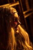 Młoda hipis kobieta Zdjęcie Stock
