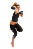 Młoda kobieta boks Fotografia Stock