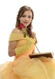 Młoda Kobieta jest ubranym princess kostium Fotografia Royalty Free