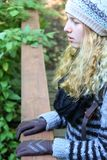 Młoda Kobieta na punkcie obserwacyjnym Obraz Stock