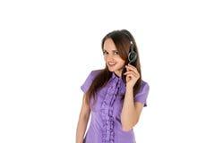Młoda kobieta od serwisu pomocy Zdjęcia Royalty Free