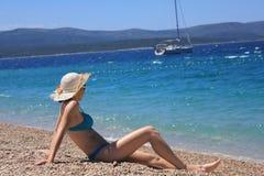 Młoda kobieta w bikini Fotografia Royalty Free