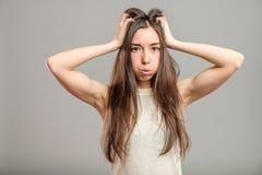 Młoda kobieta w depresji Fotografia Stock