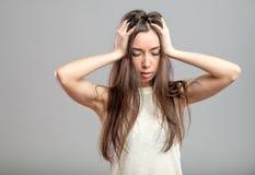 Młoda kobieta w depresji Obrazy Royalty Free