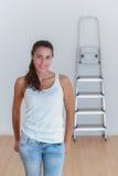 Młoda kobieta w jej nowym domu Obraz Royalty Free