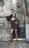 Młoda kobieta w lato sukni Obraz Stock