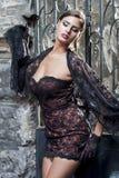 Młoda kobieta w lato sukni Obrazy Royalty Free