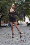 Młoda kobieta w lato sukni Zdjęcie Royalty Free