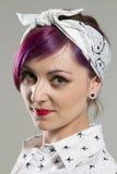Młoda kobieta w Rockabilly stylach Obrazy Royalty Free