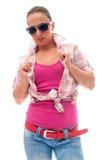 Młoda kobieta z przypadkowym odziewa Zdjęcie Royalty Free