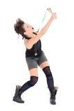 Młoda kobieta z slingshot Zdjęcia Stock