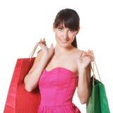 Młoda kobieta z torba na zakupy Obraz Stock