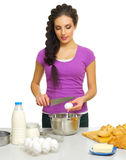 Młoda kulinarna kobieta Obraz Stock