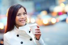 Młoda miastowa fachowa biznesowa kobieta Nowy Jork Obraz Royalty Free