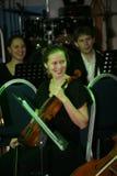 Młoda muzyk orkiestra symfoniczna St Petersburg stanu uniwersytet kultura Fotografia Stock