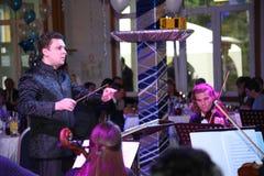 Młoda muzyk orkiestra symfoniczna St Petersburg stanu uniwersytet kultura Zdjęcia Royalty Free