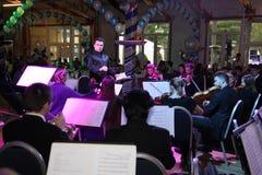 Młoda muzyk orkiestra symfoniczna St Petersburg stanu uniwersytet kultura Obrazy Stock