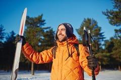 Młoda narciarka Fotografia Royalty Free