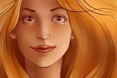 Młoda redhair kobieta Zdjęcia Stock