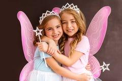Młode czarodziejskie królowe Zdjęcia Royalty Free