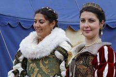 Młode damy w Renesansowym festiwalu Obrazy Royalty Free