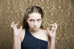 młode dziewczyny sfrustrowanych Fotografia Royalty Free