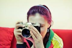 młode kobiety kamer Fotografia Royalty Free