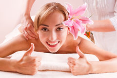 Młode kobiety w zdroju Zdjęcie Stock