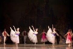 Młode tancerz baleriny w klasowym klasycznym tanu, balet Obrazy Royalty Free