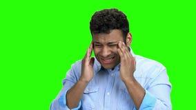 M?odego Cz?owieka cierpienie Od migreny zdjęcie wideo