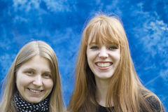 młodej dwa kobiety Fotografia Royalty Free