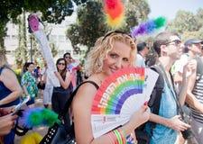 Młodej dziewczyny dumy podporowa parada Zdjęcia Stock