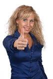 Młodej dziewczyny przedstawienie kciuk Obraz Royalty Free