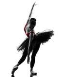 Młodej kobiety baleriny baletniczego tancerza taniec Zdjęcie Stock