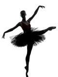 Młodej kobiety baleriny baletniczego tancerza taniec Fotografia Stock
