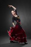 Młodej kobiety dancingowy flamenco Obraz Stock