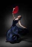 Młodej kobiety dancingowy flamenco Fotografia Royalty Free